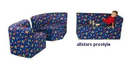 Bänfer Eckcouch MINI Sofa 3 teilig links länger Couch Farbwahl Motivdruck - Vorschau 3
