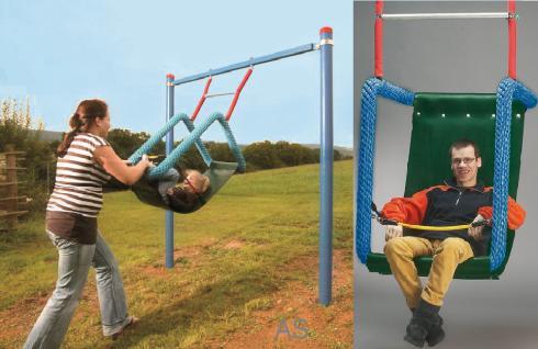 Huck Easy-Swing Maxi Behindertenschaukel mit Pfosten