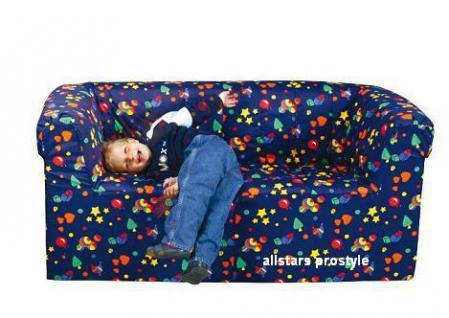 Bänfer Kindermöbel Zweisitzer Couch Sofa MAXI Schaumstoff Microfaser Kindersofa