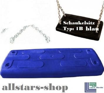 Beckmann Schaukelsitz Typ 1B Gummi Schaukel gebogen mit Alu-Verstärkung mit Kette vz TÜV für öffentlichen Bereich blau