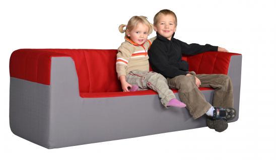 Bänfer Kindermöbel Dreisitzer Couch Sofa MAXI Schaumstoff Polyester Kindersofa