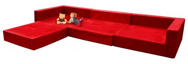 Bänfer MAXI Sofa Mittelteil 1350 x 1350 mm Couch Farbwahl Microfaser Motiv - Vorschau 2