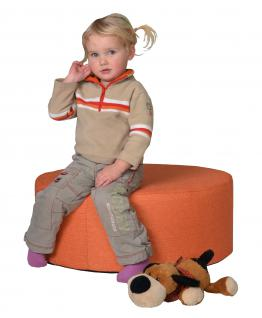 Bänfer Kindermöbel Tisch rund Kindertisch MINI Schaumstoff Microfaser Spieltisch