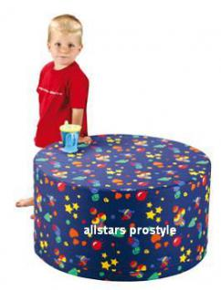 Bänfer Kindermöbel Tisch rund Kindertisch MAXI Schaumstoff Microfaser Spieltisch