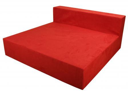 Bänfer MAXI Sofa Mittelteil 1350 x 1350 mm Couch Farbwahl Microfaser Motiv - Vorschau 1