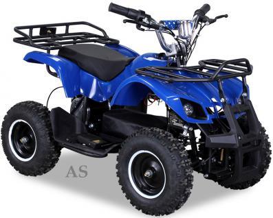allstars Quad Elektroquad 800W Torino Kinderquad Pocketquad blau - Vorschau 1