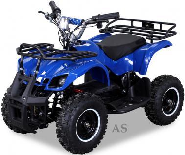 allstars Quad Elektroquad 800W Torino Kinderquad Pocketquad blau - Vorschau 2