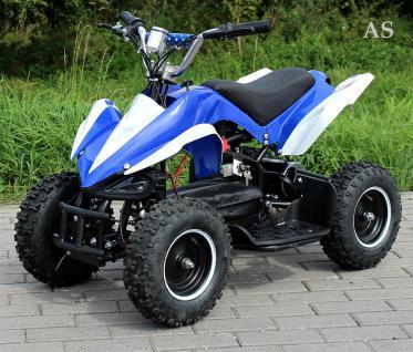 Allstars E-Quad Elektroquad Racer 800W blau-weiss Kinderquad - Vorschau 3