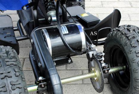 Allstars E-Quad Elektroquad Racer 800W blau-weiss Kinderquad - Vorschau 5