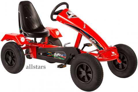 Dino Cars Kettcar GoKart Stylez S111 AF Leichtlaufreifen rot