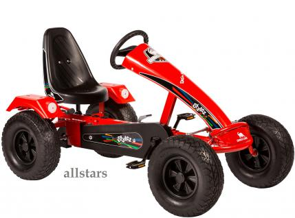 Dino Cars Kettcar GoKart Stylez S121 AF Kettcar Breitreifen rot
