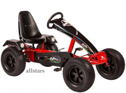 Allstars Dino Cars Kettcar GoKart Stylez S122 AF Kettcar Breitreifen rot-schwarz