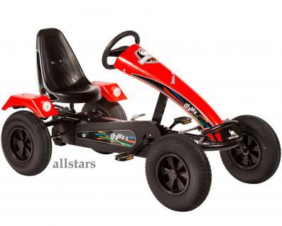 Allstars Dino Cars GoKart Stylez S211 BF1 Kettcar schwarz-rot