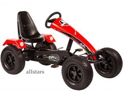 Allstars Dino Cars Kettcar GoKart Stylez S221 AF Kettcar Breitreifen schwarz-rot