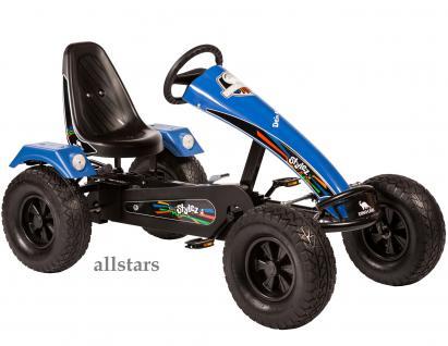 Allstars Dino Cars Kettcar GoKart Stylez S224 AF Kettcar Breitreifen schwarz-blau