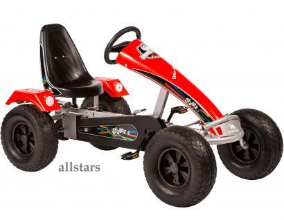 Allstars Dino Cars Kettcar GoKart Stylez S321 Breitreifen silber-rot