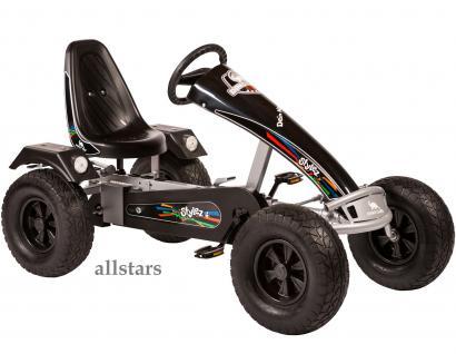 Allstars Dino Cars Kettcar GoKart Stylez S322 Breitreifen silber-schwarz