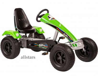 Allstars Dino Cars Kettcar GoKart Stylez S323 Breitreifen silber-grün