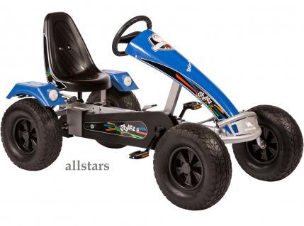 Allstars Dino Cars Kettencar GoKart Stylez S324 AF Breitreifen silber-blau