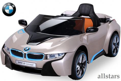 allstars kinder elektroauto bmw i8 metallic gold mit. Black Bedroom Furniture Sets. Home Design Ideas