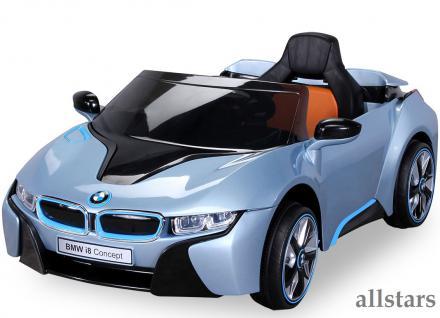 Allstars Kinder Elektroauto BMW I8 metallic-hellblau mit Lizenz