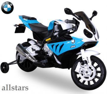 Allstars Kinder Elektromotorrad BMW S 1000 RR blau Lizenz E-Pocketbike