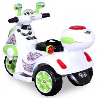 Allstars Kindermotorrad Elektro Trike LS-128A grün Dreirad Elektrodreirad - Vorschau 2