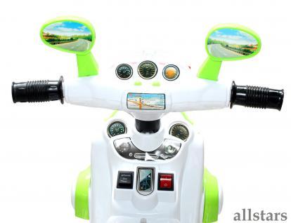 Allstars Kindermotorrad Elektro Trike LS-128A grün Dreirad Elektrodreirad - Vorschau 4
