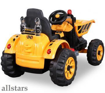 Allstars Elektro Kinder Radlader Schaufelbagger Kinderquad Lion 2 gelb - Vorschau 2