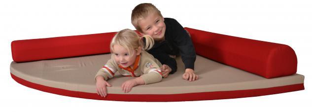 Bänfer Kindermöbel Spielecke Matratze Schlafecke 1, 6 m PU-Schaummatte Microfaser