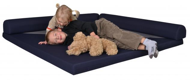 Bänfer Kindermöbel Spielecke Matratze Schlafecke klappbar 2 m Matte Microfaser
