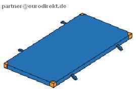 Bänfer Turnen Gerät-Turnmatte light 2 x 1 m Lederecken Schlaufen Sportmatte Schule - Vorschau 2