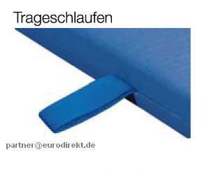 Bänfer Turnen Gerät-Turnmatte light 2 x 1 m Lederecken Schlaufen Sportmatte Schule - Vorschau 3