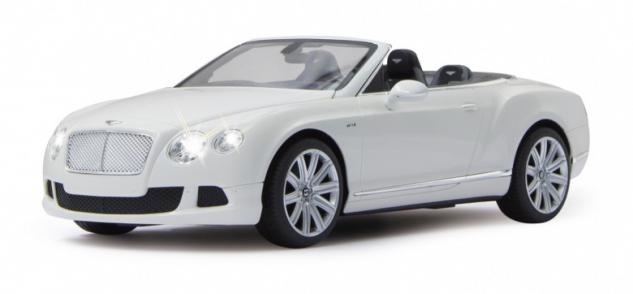 RC Auto Bentley Continental GT Speed Cabrio weiß 1:12 Modellauto LED Funk Jamara