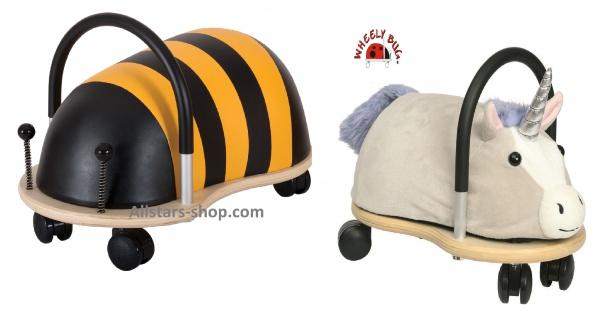 Wheely Bug Rutscher Biene Maja und Einhorn Kleinkindrutscher klein Wendekreis 360 Grad Allstars