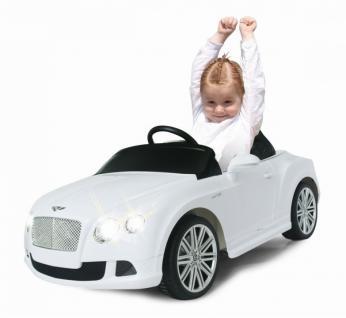 Jamara Kinderauto Elektroauto Elektro Ride on Car Bentley Continental GT weiß