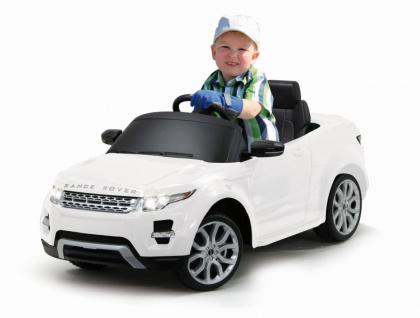 Jamara Kinderauto Elektroauto Elektro Ride on Car Land Rover Evoque weiß - Vorschau 1