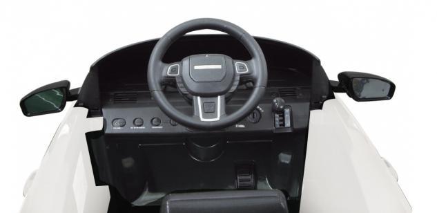 Jamara Kinderauto Elektroauto Elektro Ride on Car Land Rover Evoque weiß - Vorschau 4