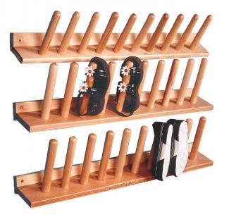 Stiefelwagenleiste 3 Stück Schuhleiste Stiefelständer für 15 Paar Holz Holzleiste allstars