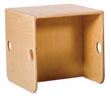 allstars Kindermöbel KiGa Multimöbel Multistuhl Stuhl Kinderstuhl Hocker Holzstuhl - Vorschau 2