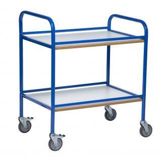 allstars Servierwagen Beistellwagen Dinette Duo Küchenwagen blau 2 Holzböden