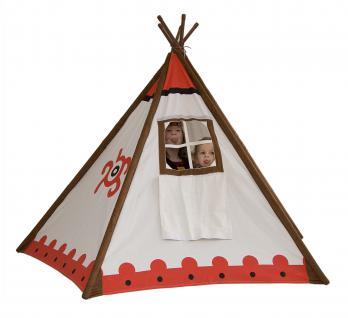 Allstars Zelt Big Wigwam Indianerzelt Kinderzelt Spielzelt Tipi mit Fenster