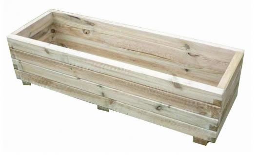 Pflanzkasten Pflanzkübel Holz 120 x 40 x 32 cm Blumenkübel Holzkasten