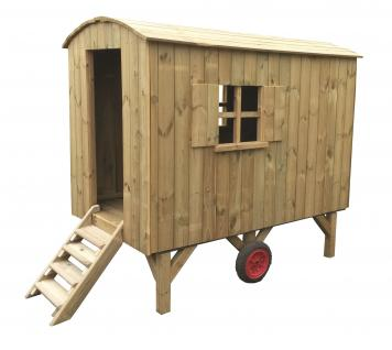 allstars Bauwagen Baustellenwagen Spielhaus Kinderspielhaus Holz
