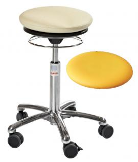 allstars Stuhl Pilates-Stuhl N Rollhocker Drehstuhl Pilates Air Seat gelb Hocker