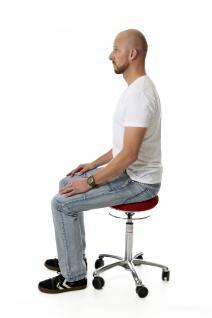 allstars Stuhl Pilates-Stuhl N Rollhocker Drehstuhl Pilates Air Seat rot Hocker