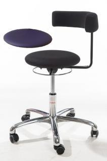 allstars Stuhl Saturn-Stuhl N Rollhocker Drehstuhl Armlehne blau Hocker