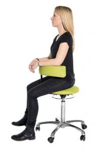 allstars Stuhl Saturn-Stuhl N Rollhocker Drehstuhl Armlehne gelb Hocker