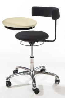 allstars Stuhl Saturn-Stuhl N Rollhocker Drehstuhl Armlehne marble Hocker