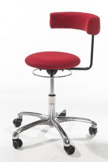 allstars Stuhl Saturn-Stuhl M Rollhocker Drehstuhl Armlehne rot Hocker